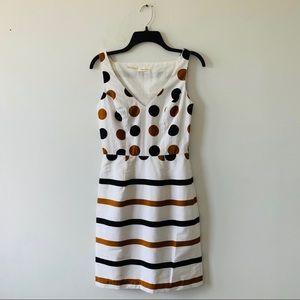 Anthropologie Burlapp Polka Dot Striped Dress Sm